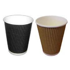 Brown and Black Ripple Paper Coffee Cups