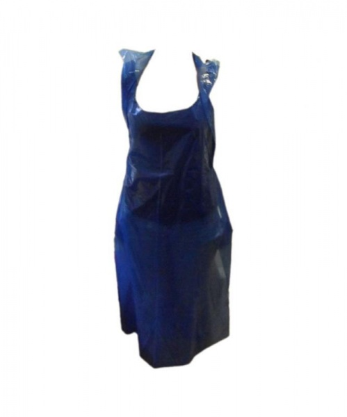 APRN466 - BLUE POLYTHENE APRON X 1000