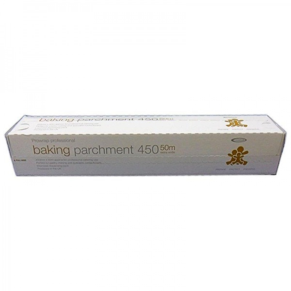 BAKE3908 - QUALITY PROFESSIONAL SILICON BAKING PARCHMENT ON A ROLL 450MM X 50M X 6