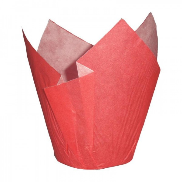 CCBS4167 - Red Tulip Muffin Wrap 160mm x 2400