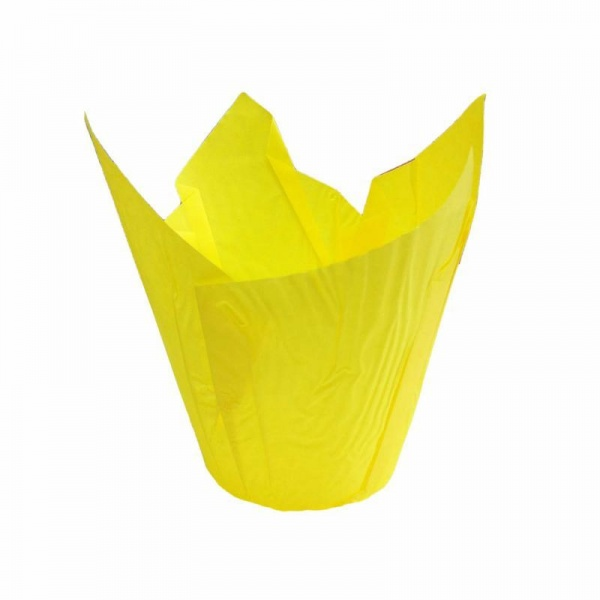 CCBS4174 - Yellow Tulip Muffin Wrap 160mm x 4800