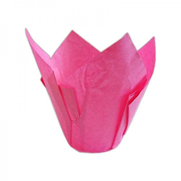 CCBS4179 - Deep Pink Tulip Muffin Wrap 160mm x 2400