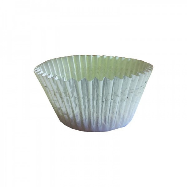 CCBS6758 - Silver Foil Cupcake Cases (51mm x 38mm) x 500