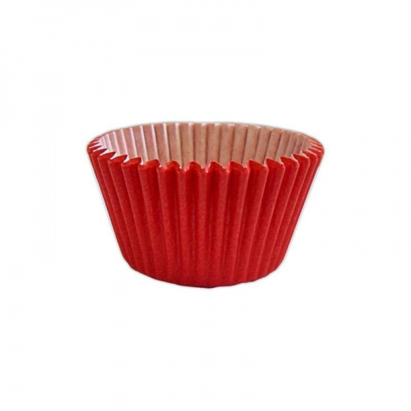 CCBS7914 - Solid Red Muffin Case (180 Pack)