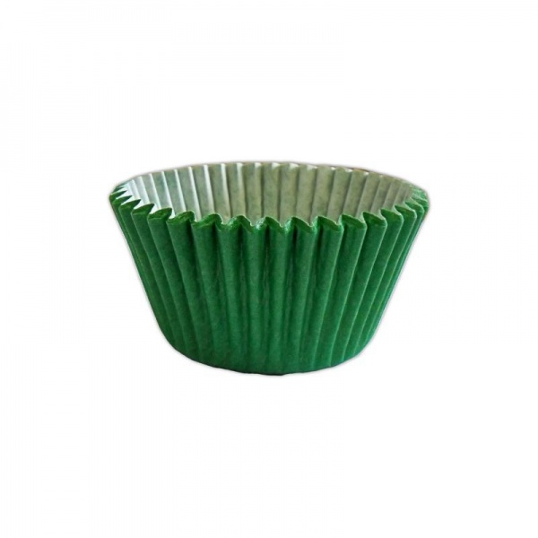 CCBS7921B - Solid Green Muffin Case x 3600