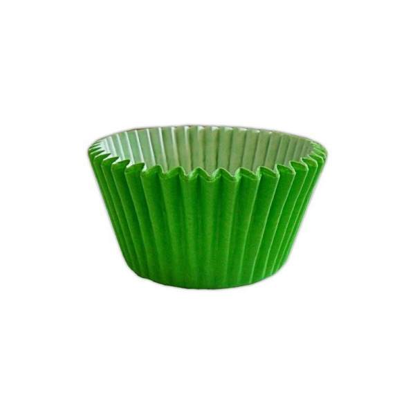 CCBS7922B - Solid Lime Green Muffin Case x 3600