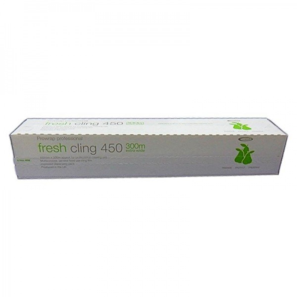 CFILM4506 - QUALITY PROFESSIONAL CLING FILM WITH CUTTER 11MU 450MM X 300M X 6