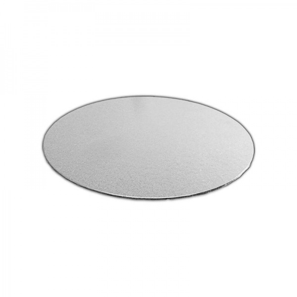 CKBD5290100 - Single Thick 4'' Round Foil Cake Boards 2mm x 100