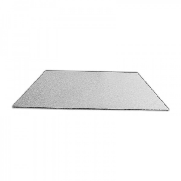 CKBD6725A1 - Single Thick 10 x 4'' Rectangular Foil Cake Boards 2mm x 1