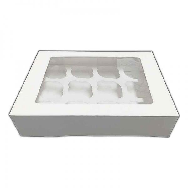 CUPCAKE1225S - 3'' deep 12 Cupcake Window Box and Insert x 25