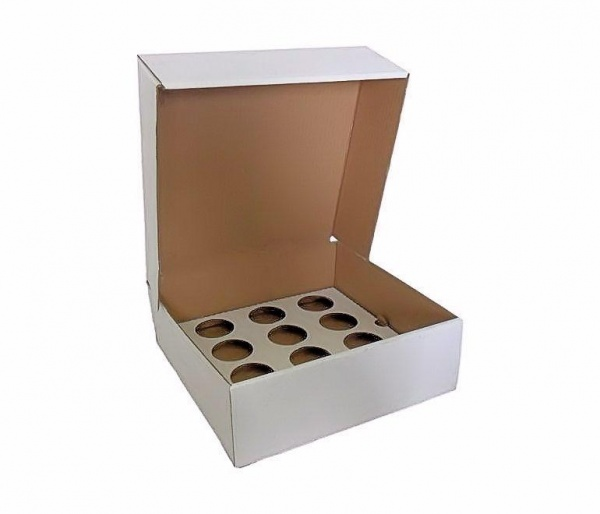CUPCAKEB12 - 12 Cupcake Box (Corrugated) With Inserts x 50
