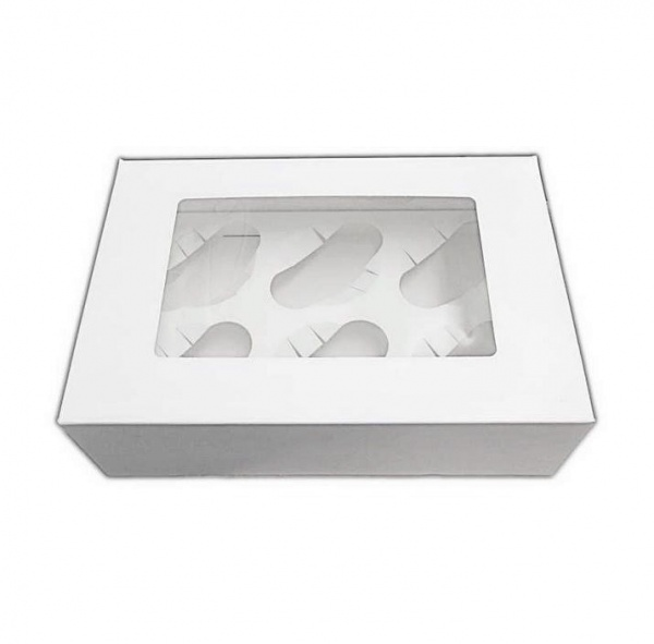CUPCAKEB6025M - 6 Cupcake Window Box and MF Insert x 25