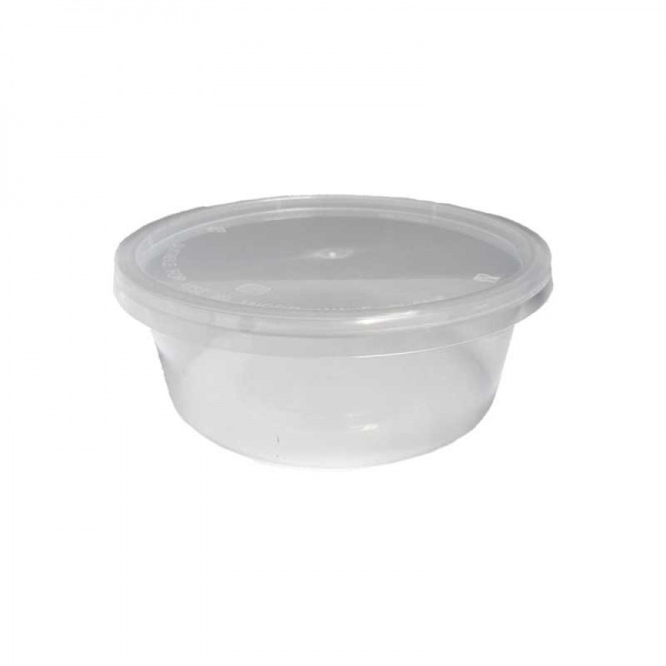 DELI6014 - 8oz Round Microwavable Combo With Lid (PM10) x 50