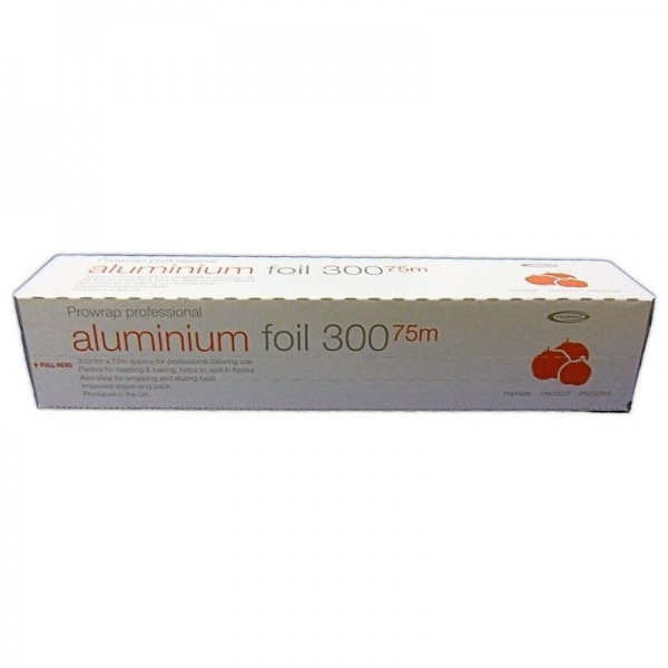 FLRL6708 - QUALITY PROFESSIONAL ALUMINIUM FOIL ON A ROLL 300MM X 75M X 6