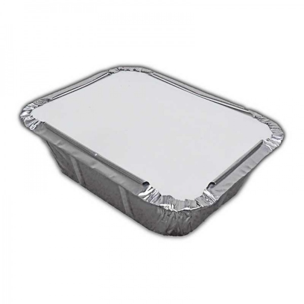 FOIL3085H - No.1 Foil Container and Poly Lids x 50 Pack