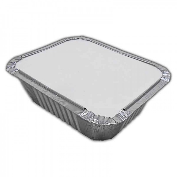 FOIL3087H - No.2 Foil Container and Poly Lids x 50 Pack