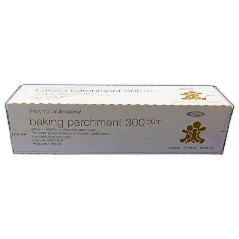 BAKE3913 - QUALITY PROFESSIONAL SILICON BAKING PARCHMENT ON A ROLL 300MM X 50M X 1