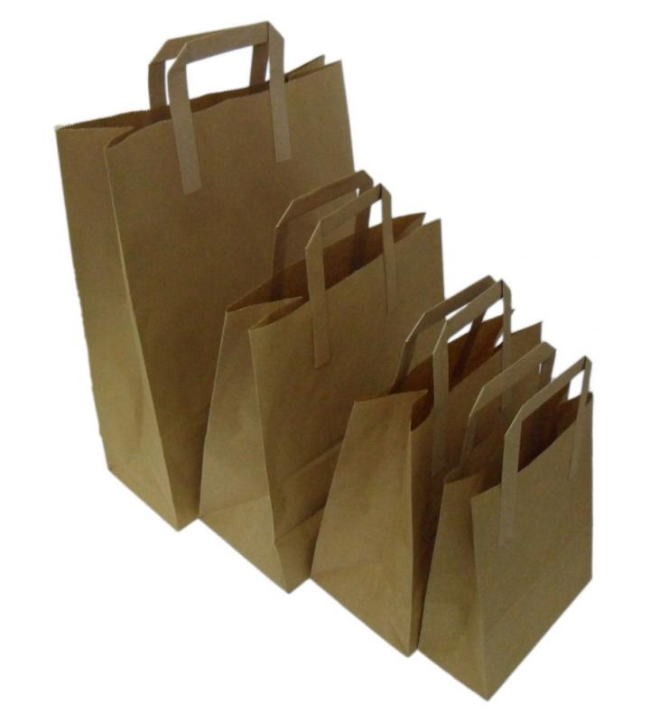 BPB102 - LARGE KRAFT SOS BLOCK BOTTOM PAPER BAGS 10.25'' X 11.75'' X 5.5'' X 250