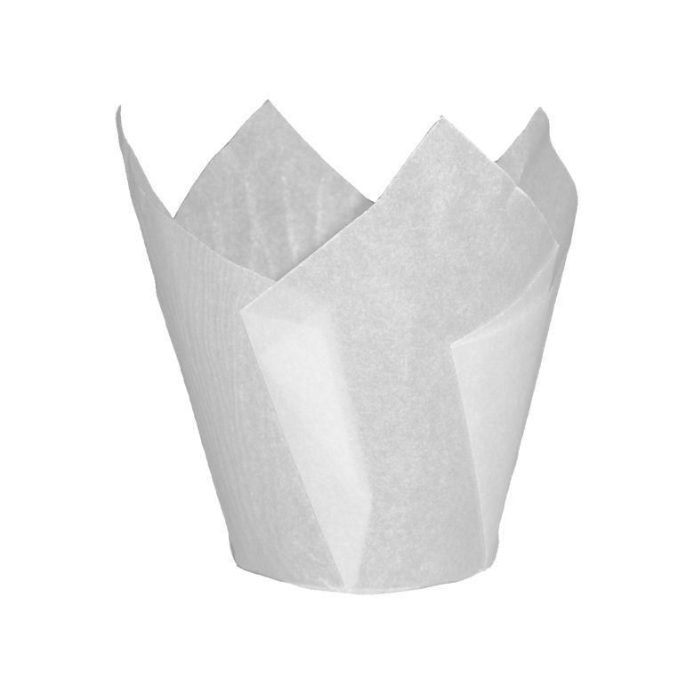 CCBS4165 - White Tulip Muffin Wrap 160mm x 4800