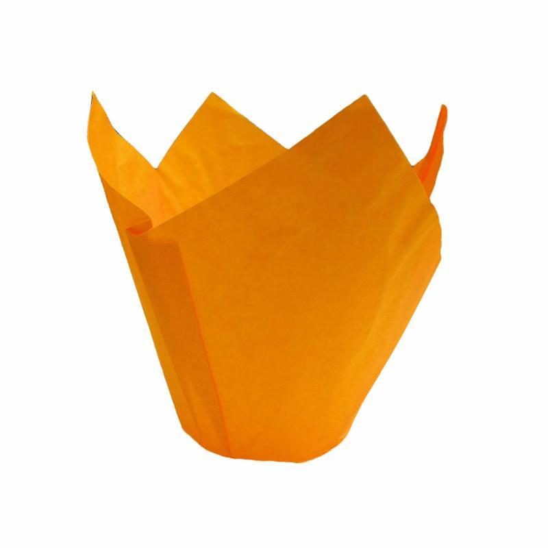CCBS4171 - Orange Tulip Muffin Wrap 160mm x 4800