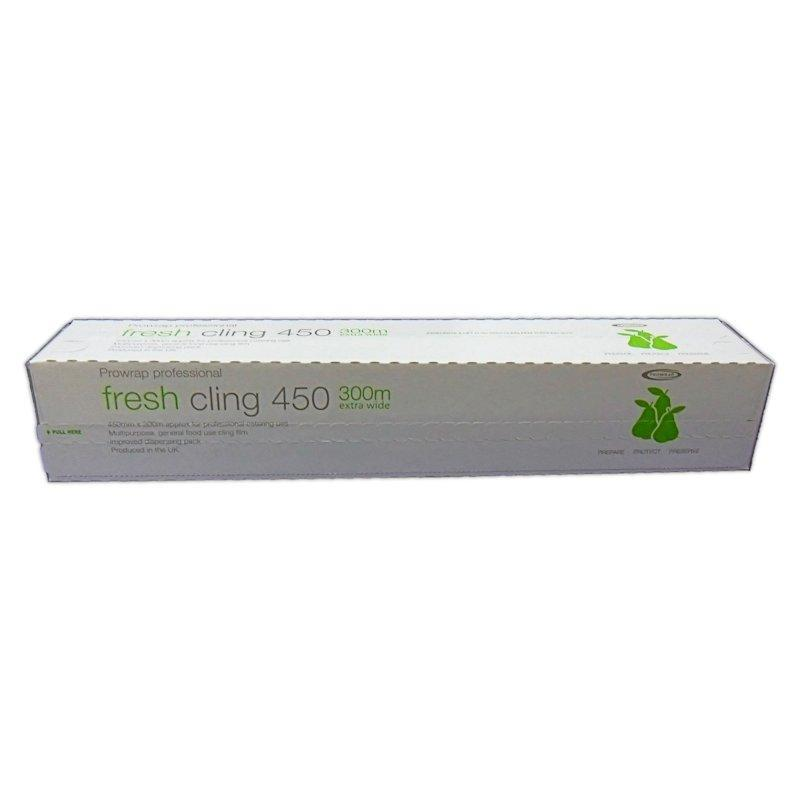 CFILM4501 - QUALITY PROFESSIONAL CLING FILM WITH CUTTER 11MU 450MM X 300M X 1