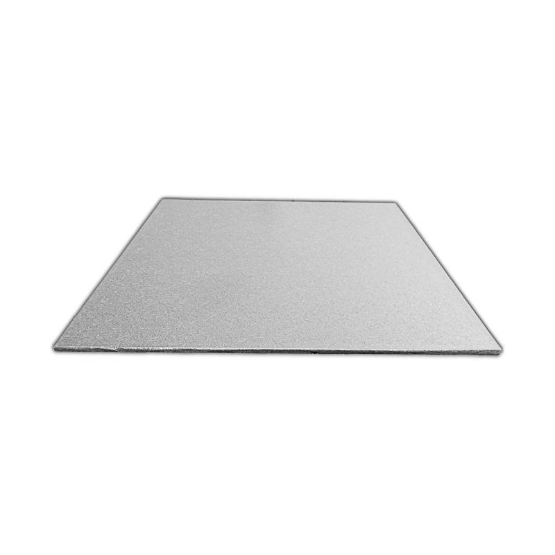 CKBD5281100 - 12'' Square Single Thick Foil Cake Boards 2mm x 100