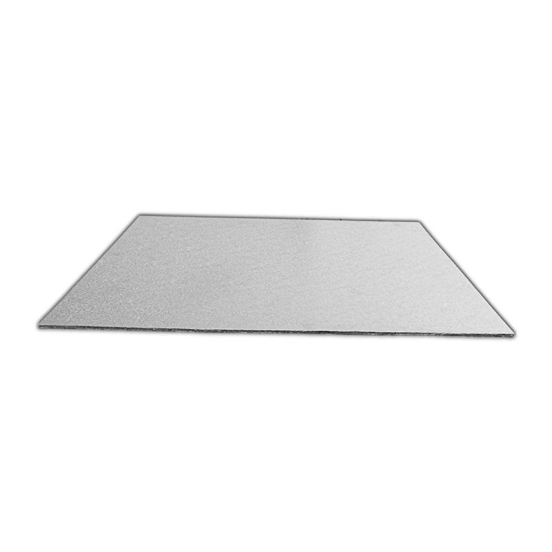 CKBD6723 - Single Thick 8 x 4'' Rectangular Foil Cake Boards 2mm x 25