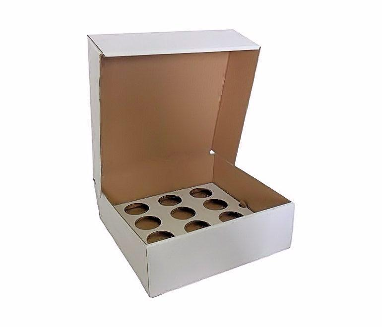 CUPCAKEB1205 - 12 Cupcake Box (Corrugated) With Inserts x 5