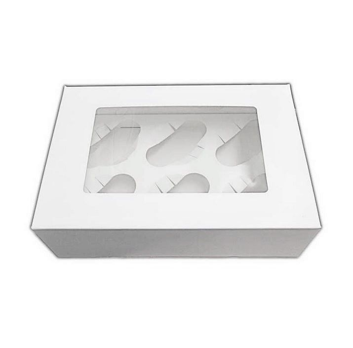 CUPCAKEB6001 - 6 Cupcake Window Box and MF Insert x 1 Single