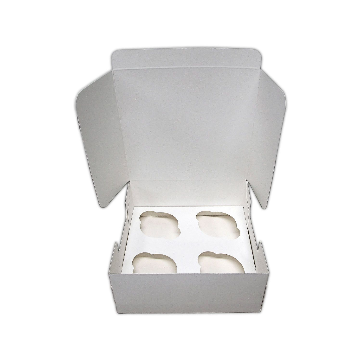 CUPCAKEBEE4025 - 4 Cupcake POP UP Box with Inserts 7 x 7 x 3 Non-Window - Pack of 25