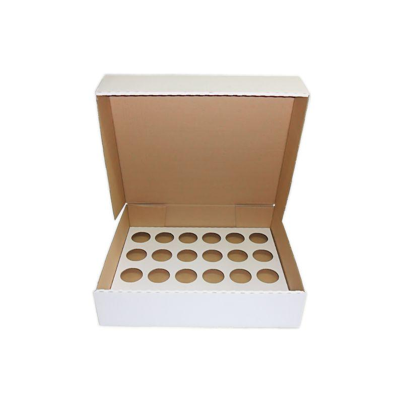 CUPCAKEL24100 - 24 Large Cupcake Box (Corrugated 17.25 x 14.75 x 4) With Inserts x 100