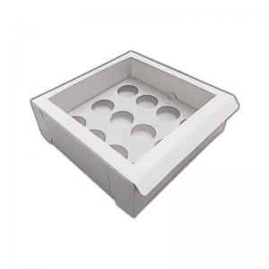 CUPCAKEWHE12100 - 12 Cupcake Self Assemble Window Box and Insert x 100