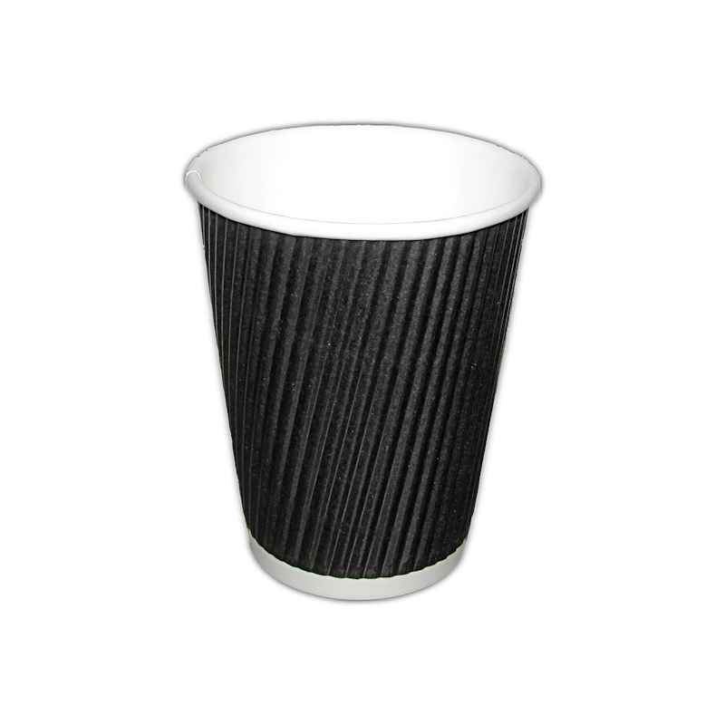 CUPRIPPLE1012B - 12oz Black Ripple Cup x 500