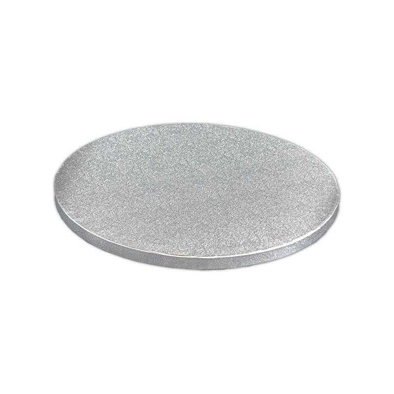 DRUM7355 - Round 12mm Silver Cake Drums 5'' x 5