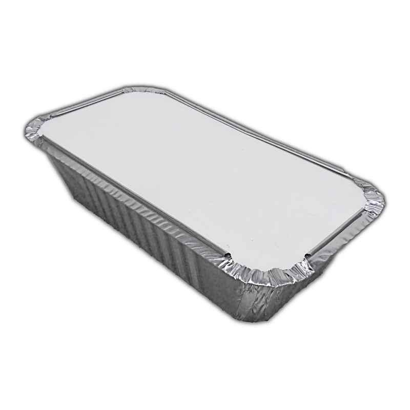 FOIL3089H - No.6a Foil Container and Poly Lids x 25 Pack