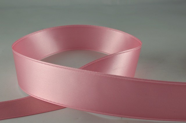 RIBPINK2504 - Ribbon Double Faced Satin Baby Pink 25mm x 25 Meters