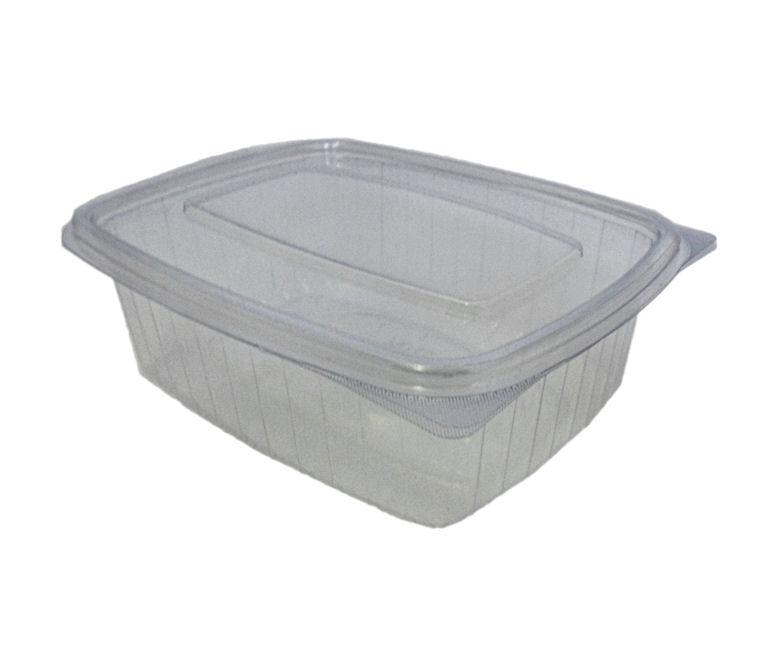 SLBX4068 - 500CC PVC RECTANGULAR CLEAR SALAD BOX x 50