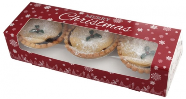 MPIE6250 - New Xmas Mince Pie Box with Layer Dividing Insert x 250