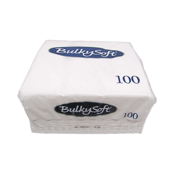 NAP0931 - New Bulky Soft White Napkins 33cm x 33cm 2 ply x 100