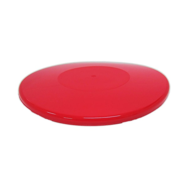 PUDB1425L - 1/4lb Red Pudding Bowl Lids x 25