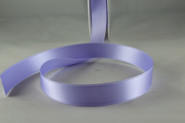 RIBDLILAC1505 - Ribbon Double Faced Satin Deep Lilac 15mm x 25 Meters