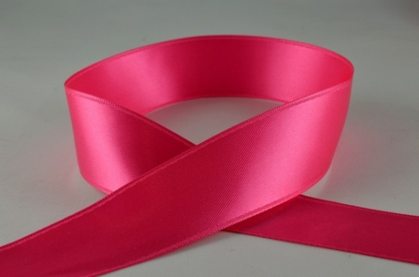 RIBFUCHSIA1518 - Ribbon Double Faced Satin Fuchsia 15mm x 25 Meters