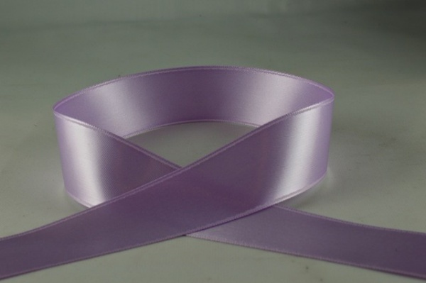 RIBLILAC2502 - Ribbon Double Faced Satin Lilac 25mm x 25 Meters