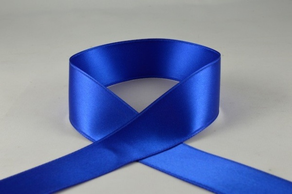 RIBRBLUE2520 - Ribbon Double Faced Satin Royal Blue 25mm x 25 Meters