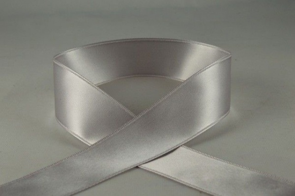 RIBSILVER1584 - Silver Double Faced Satin Ribbon 15mm x 25 Meters