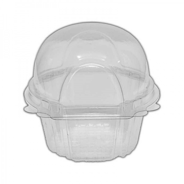 SCLAM1A - Clear Small Single Cupcake/Muffin Container x 50