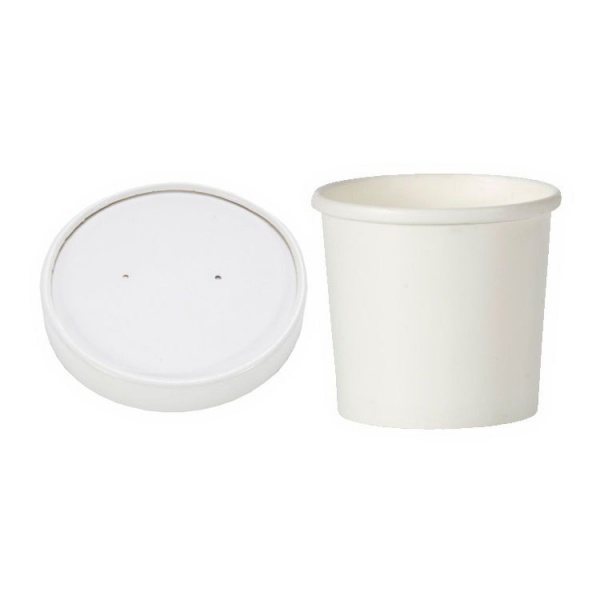 SOUP12A - 12oz Soup/Pasta Container With Vented Paper Lid x 25