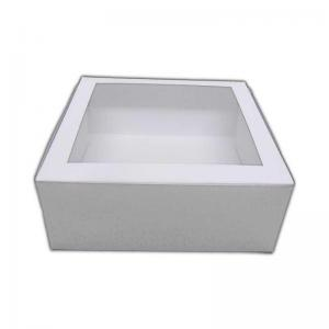WCKB08081 - Self Assemble Cake Box With Window 8 x 8 x 4 Inches x 1